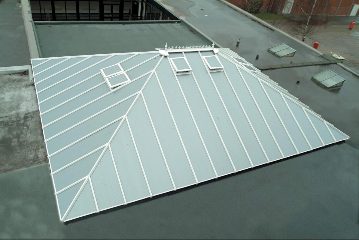 Fehér Alumínium-PVC Épületbevilágító